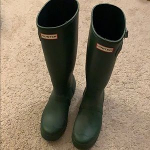 Tall hunter rain boots